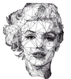 love you big: Geometric Marilyn