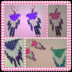 Diy earrings & necklace with beads