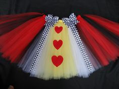 Queen of Hearts tutu custom made in your choice of by CatyRoseBows