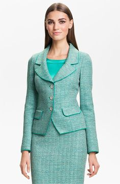 St. John Collection Space Dye Knit Jacket available at #Nordstrom