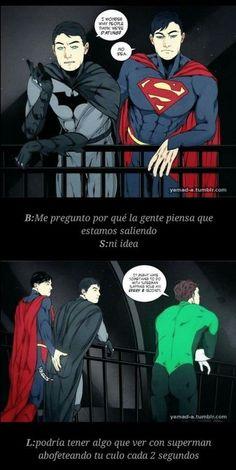 "Read SUPERBAT 68 from the story 🖤 imágenes ""SUPERBAT"" 🖤 by Patyneko (Ana Patricia) with reads. Superman X Batman, Marvel Dc Comics, Marvel Memes, Humor Batman, Superhero Memes, Robin Superhero, Villainous Cartoon, Superbat, Dc Memes"
