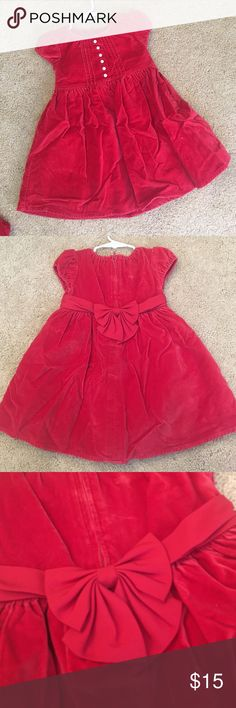GAP baby...darling holiday dress GAP baby darling holiday dress. Red velvet with red cotton diaper cover. Short sleeve. Adorable details. Feel free to make a reasonable offer. 🎄 GAP Dresses