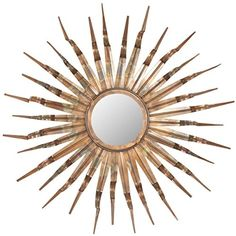Safavieh Home Collection Sun Mirror, 33.1 by 3.9 by 33.1-Inch, Copper
