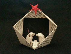 Belén de papel miniatura - Pequeño belén - Decoración navideña de MarielleJL en Etsy