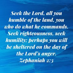 Seek the LORD, all you humble of the land, you who do what he commands. perhaps you will be sheltered on the day of the LORD's anger. Daily Scripture, Scripture Verses, Bible Scriptures, Bible Verses Quotes Inspirational, Religious Quotes, Positive Affirmations Quotes, Affirmation Quotes, Bible Promises, Gods Promises
