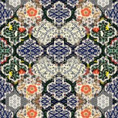 Oriental and French Tapestry Vibrant Patchwork Bohemian
