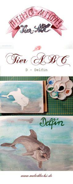 Weiter gest es mit dem D - Delfin. Viel Spaß bei meiner Mitmach-Aktion dem Tier-ABC Tier Abc, Delphine, Movie Posters, Art, Hands On Activities, Letter D, Wallpaper Backgrounds, Art Background, Film Poster