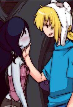 Finnceline, so cute Adventure Time Marceline, Adventure Time Finn, Finn And Marceline, Adventure Time Tattoo, Prince Gumball, Black Cartoon Characters, Ahegao, Finn The Human, Graffiti Designs