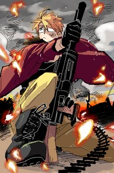 るんこ- Hetalia - America (Alfred F. Jones) He's not violent, just creative with weapons. AND HOT DAMN!!!