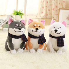 Wear scarf Shiba Inu dog plush toy soft stuffed toy girlfriend kids gift