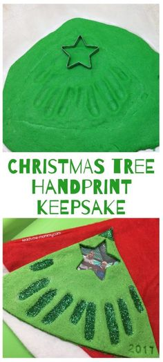 Christmas handprint keepsake, perfect kid-made gift this season!