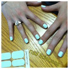 """Mint Chevron"" jamberry nail wraps Nailliciousss.jamberrynails.net"