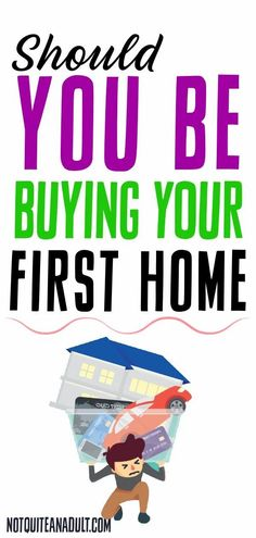 Before we dig into the positives and negatives about buying your first home, please consider that you don't need to go down a traditional life path if you don't want to, you can buy a van and live in that if you want! Don't feel pressure to buy a home if you don't want that life.Also, if you're saving for your home down payment, you can use this savings tracker to watch it grow! Buying Your First Home, Home Buying, Get Out Of Debt, Positive And Negative, Credit Score, Make More Money, Money Saving Tips, Personal Finance, Budgeting