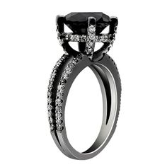 Black Diamond Engagement Rings In Black Gold 51
