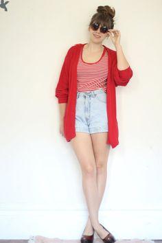 oversized cozy red cardigan