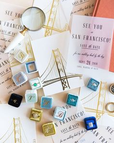 Landmarks and cities can help mark a very special moment in the making of your relationship. Why not celebrate your love and your city with a special Save The Date vellum design? Tag a bride you know planning a destination inspired wedding. Styling by @MaeMae_Co. Photo by @canarygrey. Stationery by @ellyisdrawing and @jodywody.  Shop this look and more vellum designs for your Save The Date card via the link in our profile. 🔍