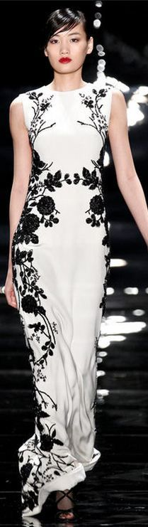 The trend continues into next fall! Reem Acra FALL 2013 RTW - NYFW♥✤