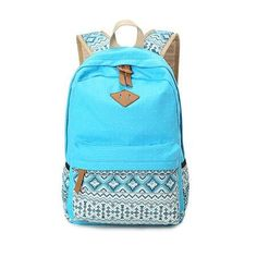 Canvas Backpack Women For Teenage Girls School Bags