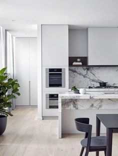 48 Amazing marble kitchen ideas that provide you with a luxurious kitchen - Marble Elegant Kitchens, Luxury Kitchens, Home Kitchens, Modern Kitchens, Tuscan Kitchens, Traditional Kitchens, Dream Kitchens, Rustic Kitchen, New Kitchen