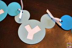 Make this Mickey Mouse birthday banner for your little one using the Cricut craft cutting machine. Personalize it with their name or your favorite saying.