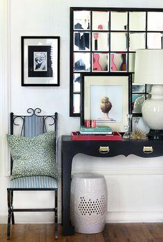 Stylish entryway / multi mirror frame / mariniere - Hunter interior
