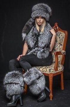 Details about Saga Furs Natural Silver Fox Fur Royal Winter Chic Handmade Set Fur Fashion, Winter Fashion, Fashion Outfits, Sporty Fashion, Girly Outfits, Trendy Outfits, Winter Chic, Winter Wear, Jungkook Fashion
