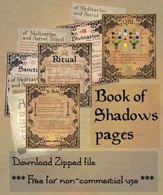 Free book of shadows printables