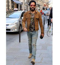 Lenny Kravitz, Fashion Mode, Fashion Boots, Mens Fashion, Fashion Outfits, Mode Rock, Cristiano Ronaldo, Designer Suits For Men, Suede Chelsea Boots