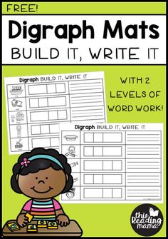 Teach Your Child to Read - Build and Write Digraph Mats - without ng digraph - This Reading Mama - Give Your Child a Head Start, and.Pave the Way for a Bright, Successful Future. Reading Centers, Reading Fluency, Reading Intervention, Teaching Reading, Guided Reading, Literacy Centers, Literacy Stations, Writing Centers, Shared Reading