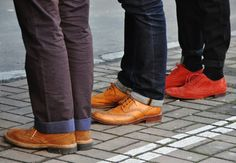colorful brogues
