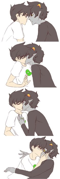 Okay, I'll try not to post the Johnkats here, but look at Karkat's face in the last panel. All squish. Prepare to be squished like that. xD