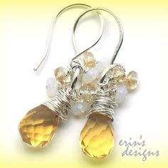 All Sterling Silver Earrings Wire Wrapped by LustrousElements, $18.00