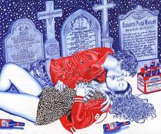Helena Hauss - Biro pen illustrations - Bic pen illustrations   Midnight Lust