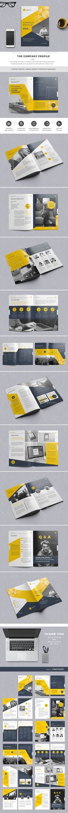 The Company Profile Design Template - Corporate Brochure Template InDesign INDD. Download here: https://graphicriver.net/item/the-company-profile/14207058?ref=yinkira