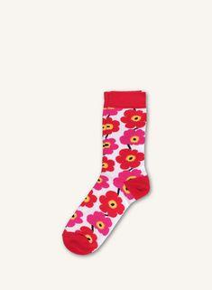 Hieta  -sukat - valkoinen, punainen  - Marimekko.com Marimekko, Tutu, Socks, Fashion, Moda, Ballet Skirt, La Mode, Tutus, Sock