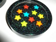 Resin star coaster mold - Made with coaster mold 893