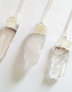 25€ - QUARTZ SILVER NECKLACE   SRTALAURIS, jewelry&design Pearl Necklace, Rocks, Stones, Jewelry Design, Quartz, Pearls, Shop, Silver, Accessories