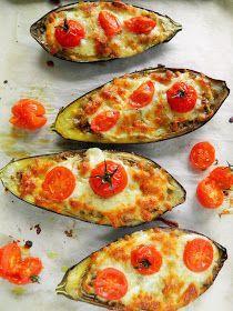 Sio-smutki: Bakłażan faszerowany pieczarkami i serem