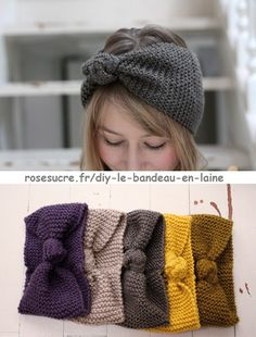 Made in France: I've tested for you: the headband … Bettinael.Made in France: I've tested for you: the headband … Knit Headband Pattern, Knitted Headband, Knitted Hats, Crochet Kids Hats, Crochet Yarn, Crochet Top, Crochet Designs, Crochet Patterns, Diy Crafts Knitting