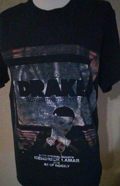 Drake 2012 Kendrick Lamar A$ap RockyT Shirt Sz S Tour Concert