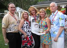 From left, Tony and Sharon Spezia, Nancy Harrison, Missy Kane and Bill Roberts. One of best parties of year! The Blue Streak: