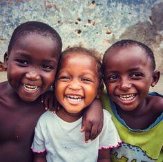 Happy children in Africa by Sunshine Cafe