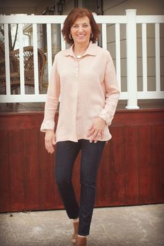 Gallery Tunic In Pink and Floral