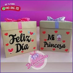 Disney Drawings, Banners, Origami, Decorations, Crafts, Color, Cha Cha, Decorated Boxes, Surprise Gifts