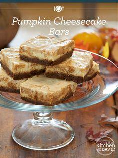 Easy-to-make pumpkin cheesecake bars!