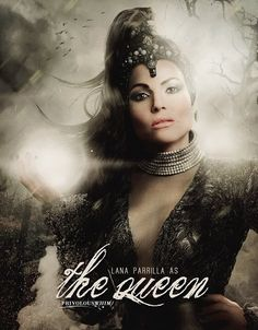 Awesome Evil Queen Regina in awesome art on an awesome Once poster for awesome Once season 5