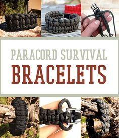 DIY Paracord Survival Bracelets and Cool Prepping Projects   Survival Life http://survivallife.com/2014/04/28/how-to-make-paracord-survival-bracelets/