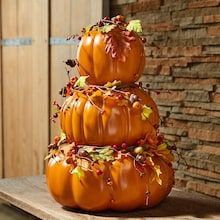 Do It Yourself Decoration, Orange Craft, Pumpkin Topiary, Thanksgiving Decorations, Fall Decorations, Seasonal Decor, Thanksgiving Ideas, Holiday Ideas, Holiday Fun