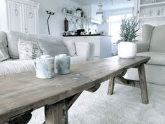 Stoere salon tafel