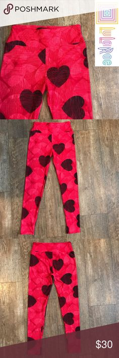 Lularoe Heart Scribbles Valentine OS Lularoe. One size. Only worn once! These look almost like new! Perfect condition, no holes, stains or defects of any kind. I think these are kind of rare. I haven't seen another pair like these after searching the internet. These are so cute for Valentine's Day! And so easy to pair with a solid color top (or under a dress!) with converse or toms! Not to mention the buttery softness that makes these leggings oh so comfy! LuLaRoe Pants Leggings